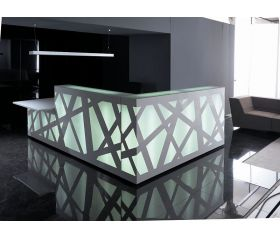 banque d 39 accueil zig zag avec module pmr lor mab. Black Bedroom Furniture Sets. Home Design Ideas