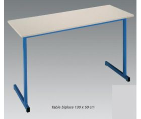 Table scolaire 1 ou 2 places lor mab for Bureau 130x50